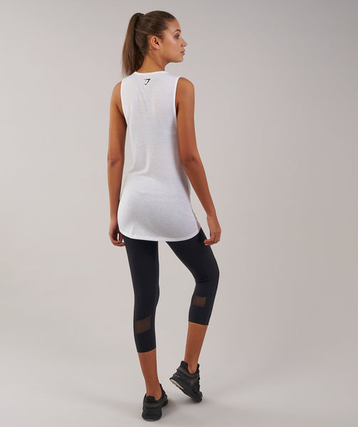 Gymshark Motion Vest - White 1