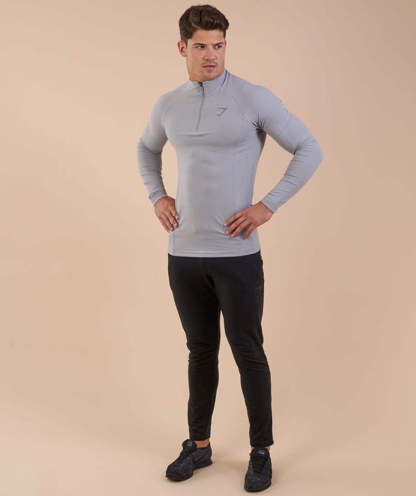 Gymshark Edge 1/4 Zip Pullover - Light Grey 1