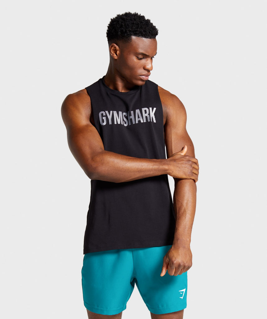Gymshark Apex Drop Armhole Tank - Black 1