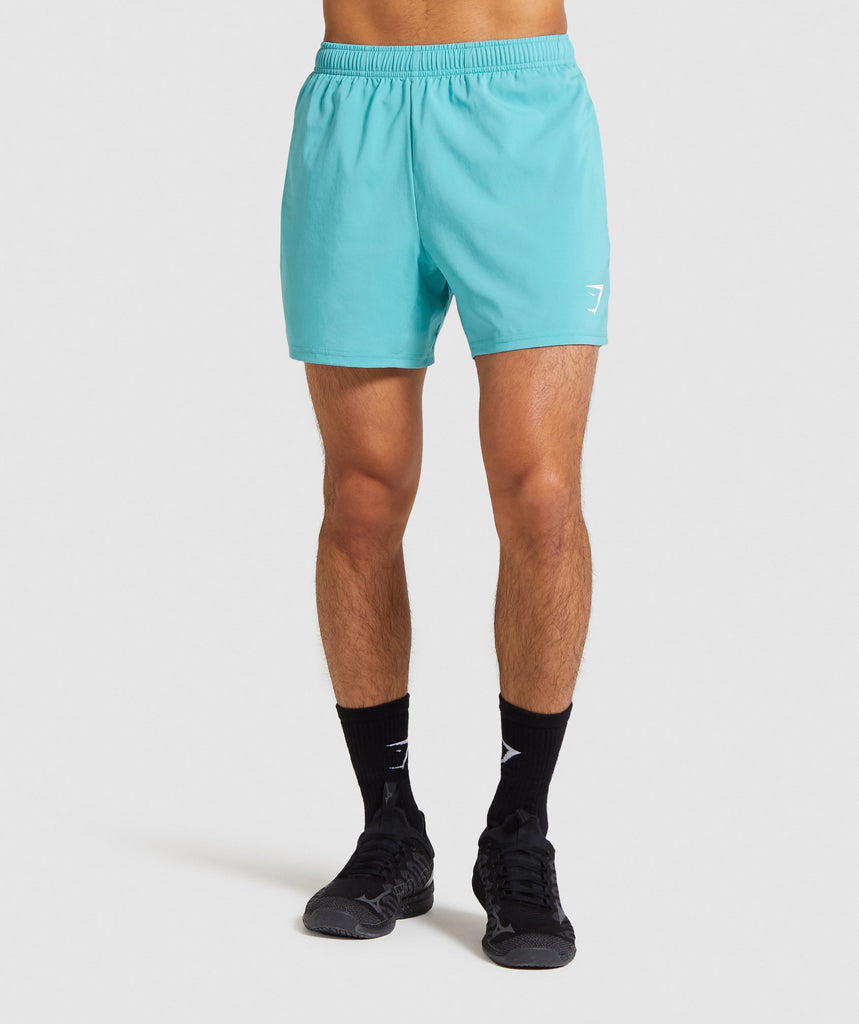 "Gymshark Arrival 5"" Shorts - Light Blue 1"