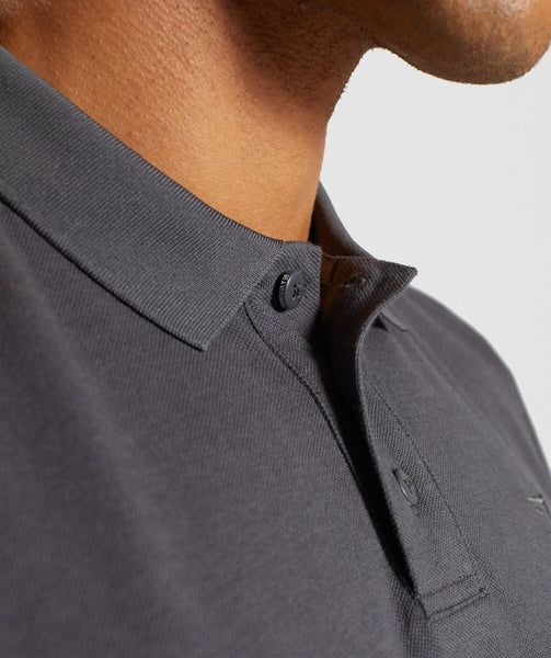 Gymshark Ace Polo - Charcoal 4