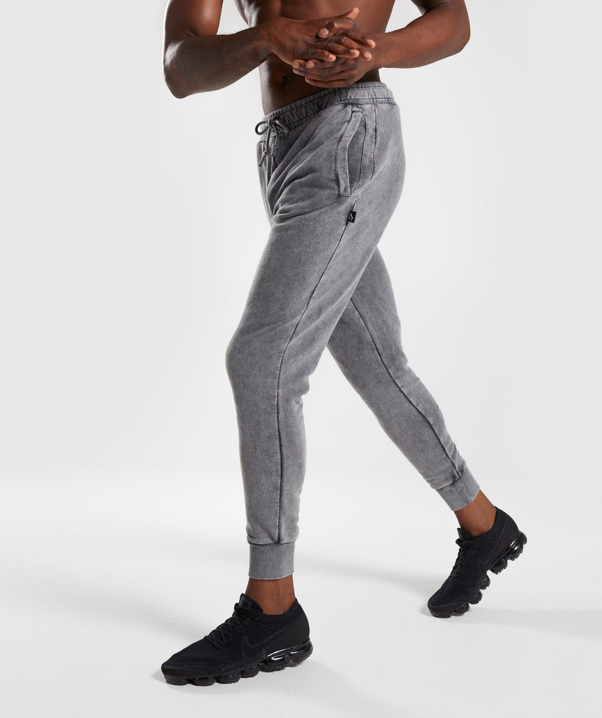 Gymshark Acid Wash Bottoms - Light Grey 1