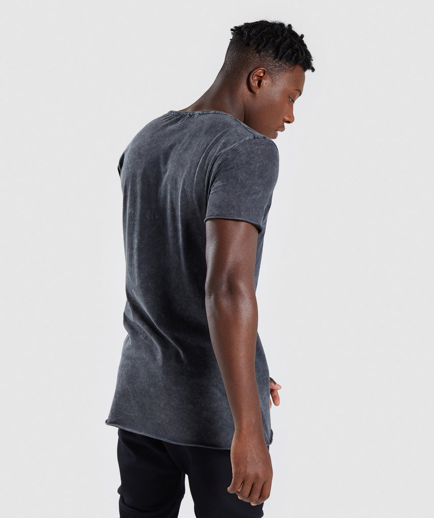 Gymshark Acid Wash T-Shirt - Black 2