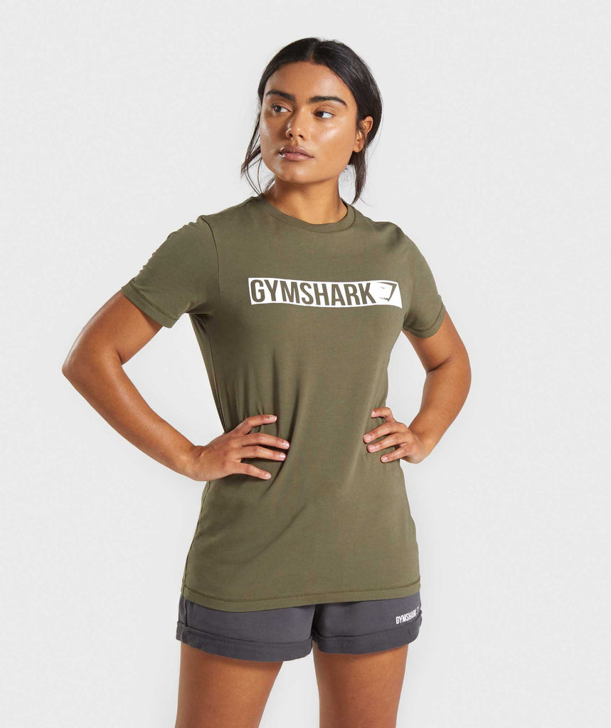 Gymshark Apollo T-Shirt - Khaki 1