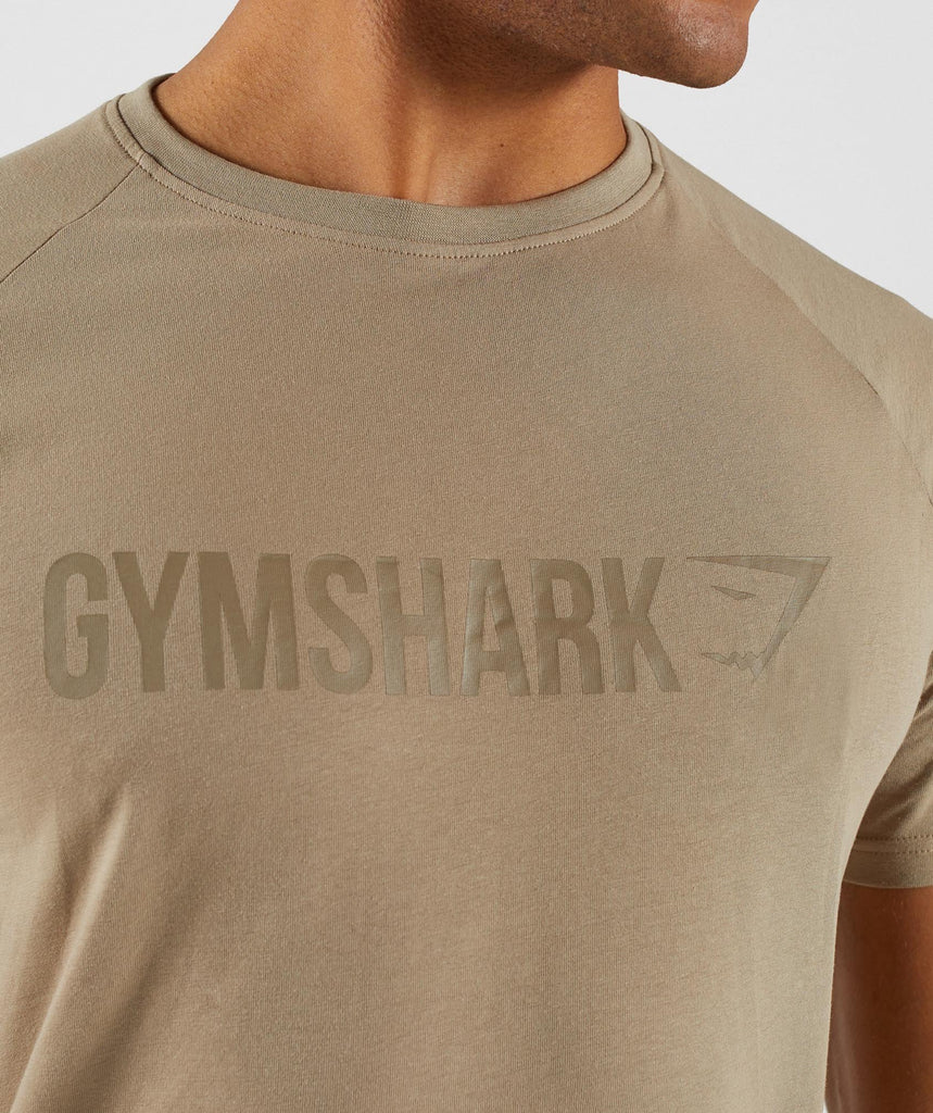 Gymshark Apollo T-Shirt - Driftwood Brown 5