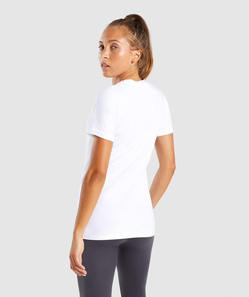 Gymshark Apollo T-Shirt 2.0 - White/Citrus Yellow 2