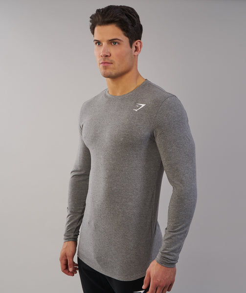 Gymshark Ark Long Sleeve T-Shirt - Slate Marl 1