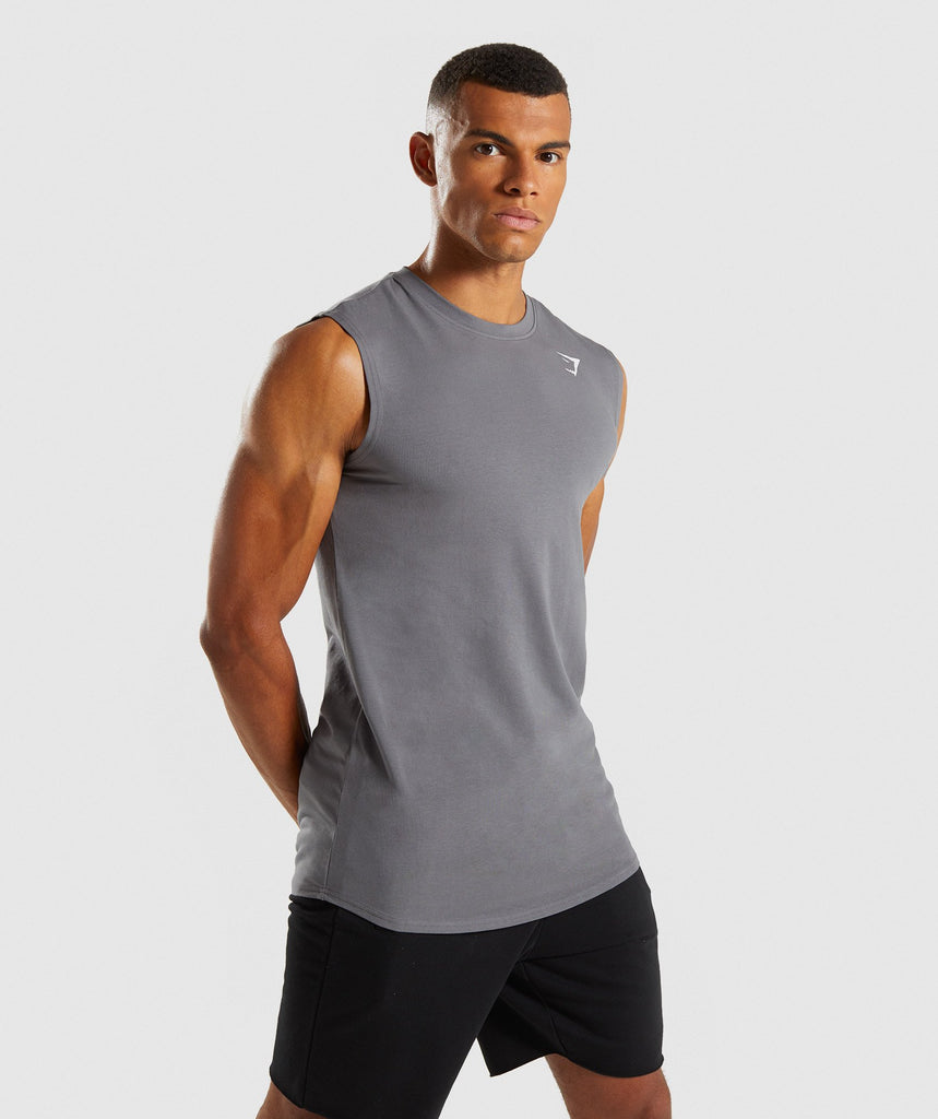 Gymshark Ark Sleeveless T-Shirt - Smokey Grey 1