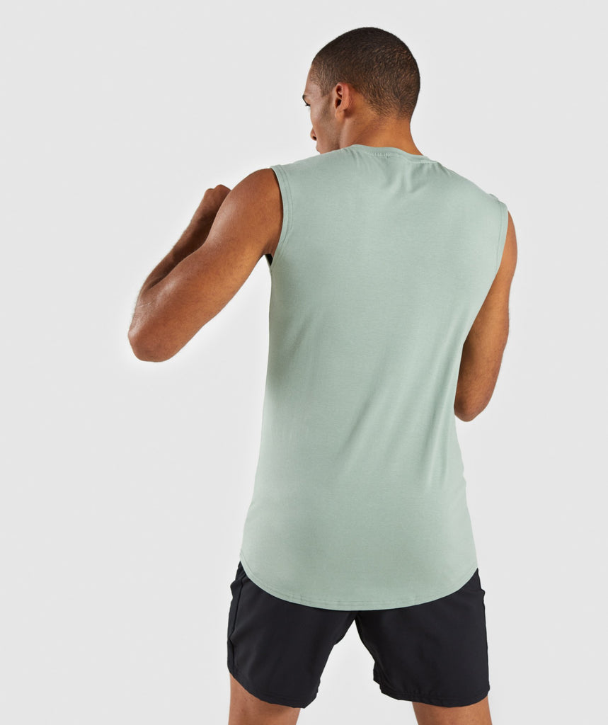 Gymshark Ark Sleeveless T-Shirt - Pale Green 2