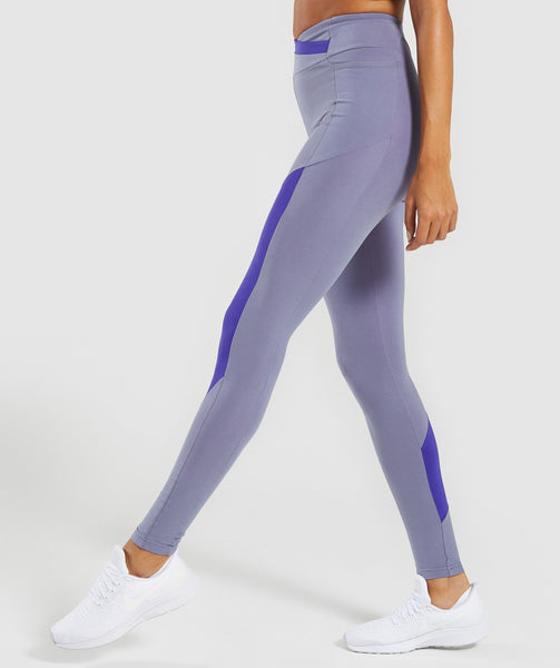 Gymshark Asymmetric Leggings - Steel Blue/Indigo 4