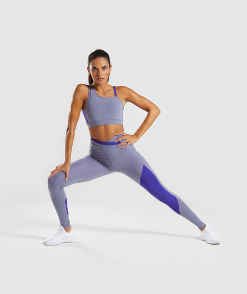 Gymshark Asymmetric Leggings - Steel Blue/Indigo 3