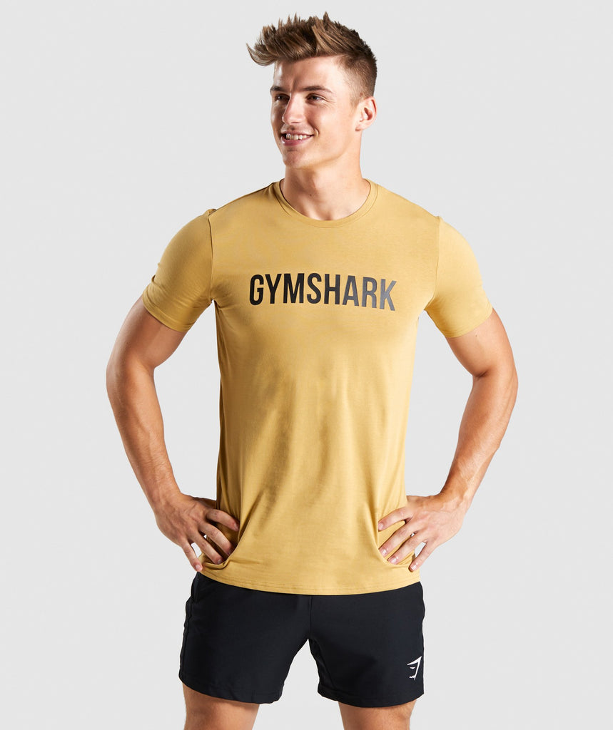 Gymshark Base T-Shirt - Sand 1