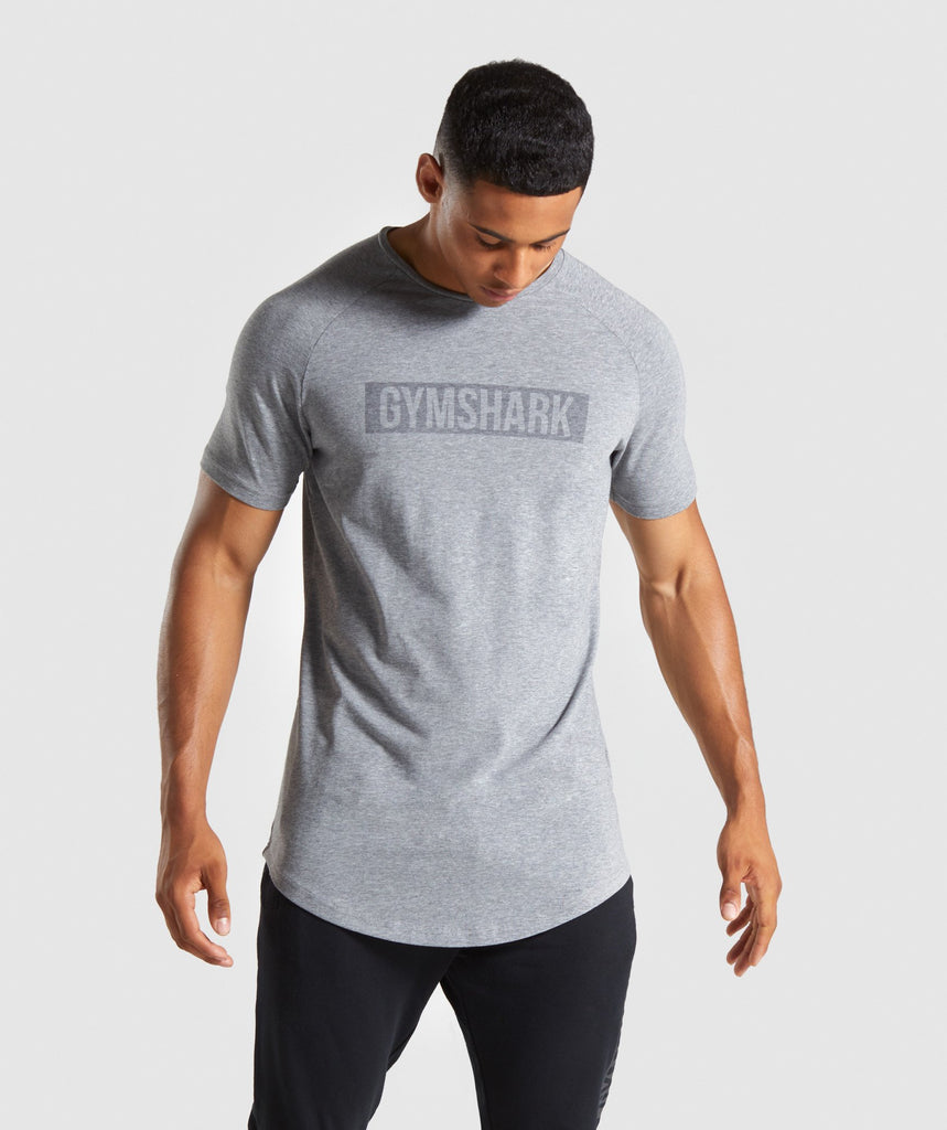 Gymshark Block T-Shirt - Grey Marl 1