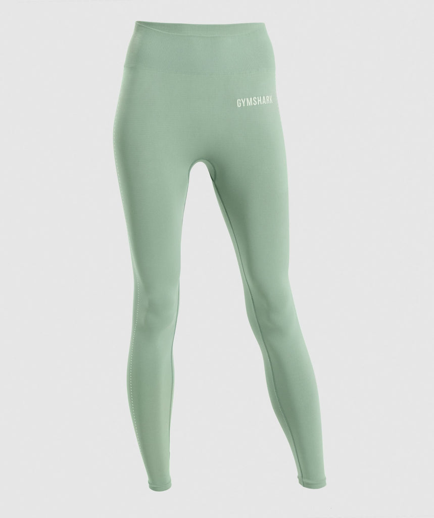 Gymshark Breeze Lightweight Seamless Tights - Green 1