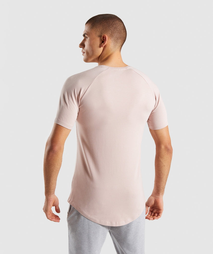 Gymshark Block T-Shirt - Chalk Nude 2