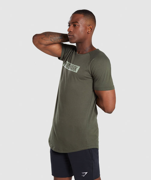 Gymshark Block T-Shirt - Woodland Green 2