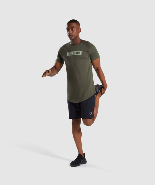 Gymshark Block T-Shirt - Woodland Green 3