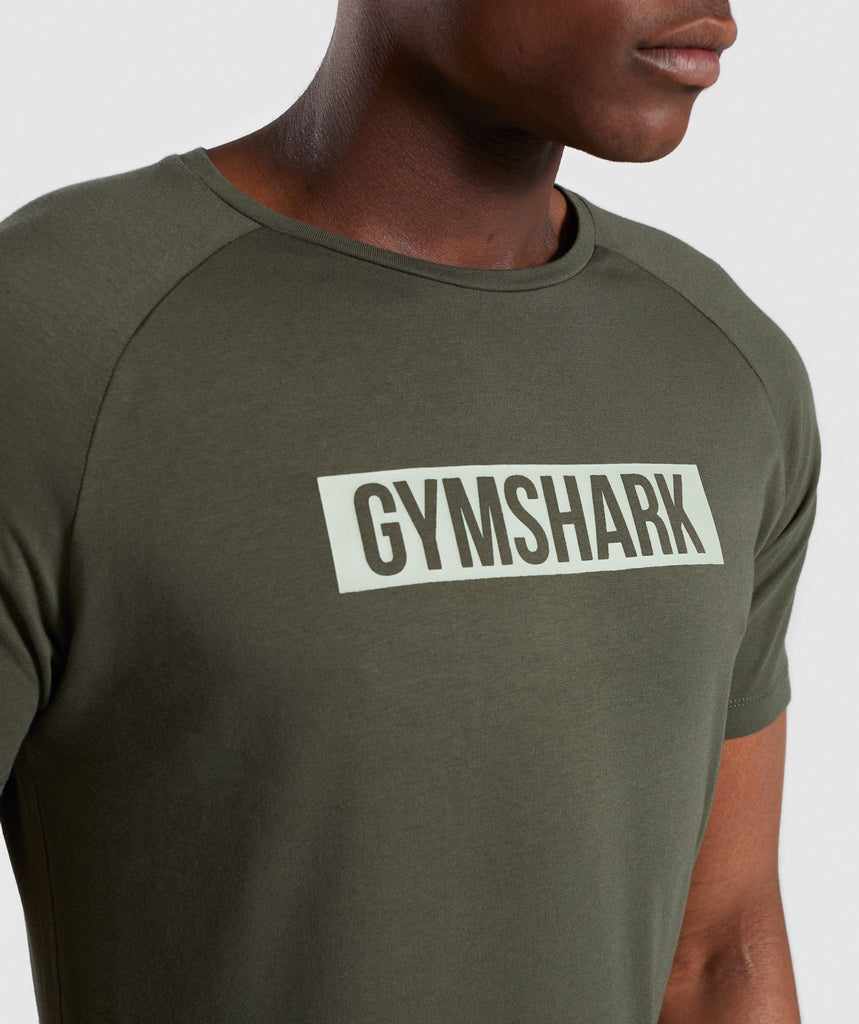 Gymshark Block T-Shirt - Woodland Green 5