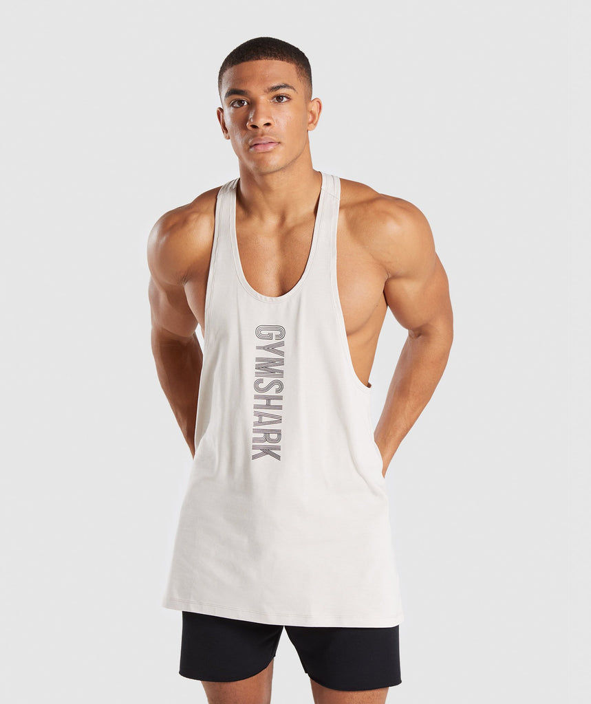 Gymshark Bold Stringer - Washed Beige 1
