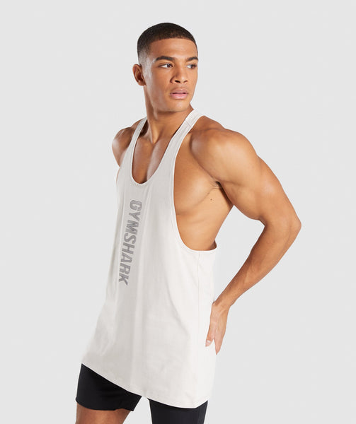 Gymshark Bold Stringer - Washed Beige 2