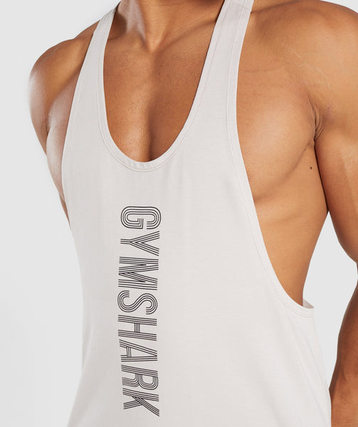 Gymshark Bold Stringer - Washed Beige 4