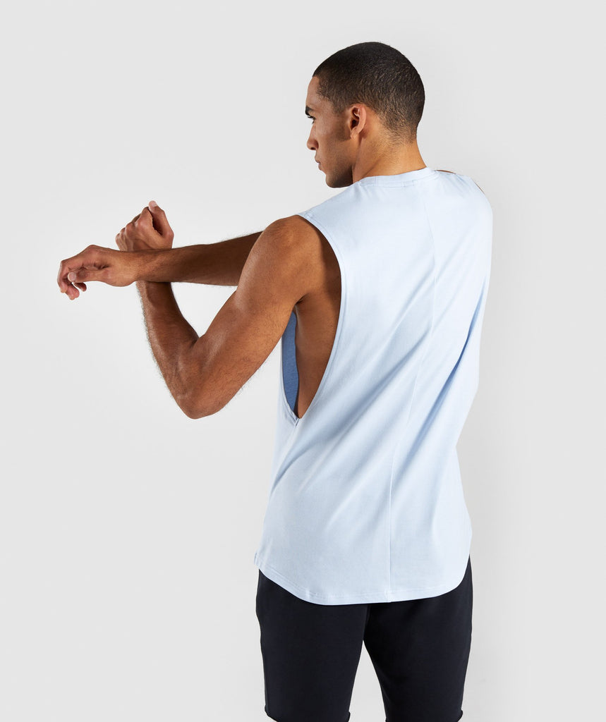 Gymshark Bold Graphic Drop Armhole Tank - Blue 2