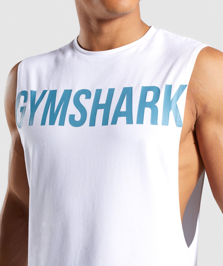 Gymshark Bold Graphic Drop Armhole Tank - White 6