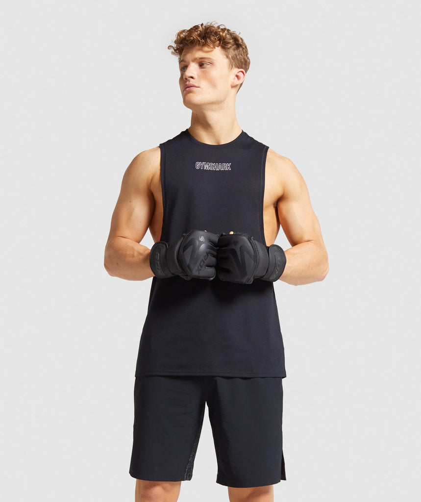 Gymshark Combat Drop Arm Tank - Black 1
