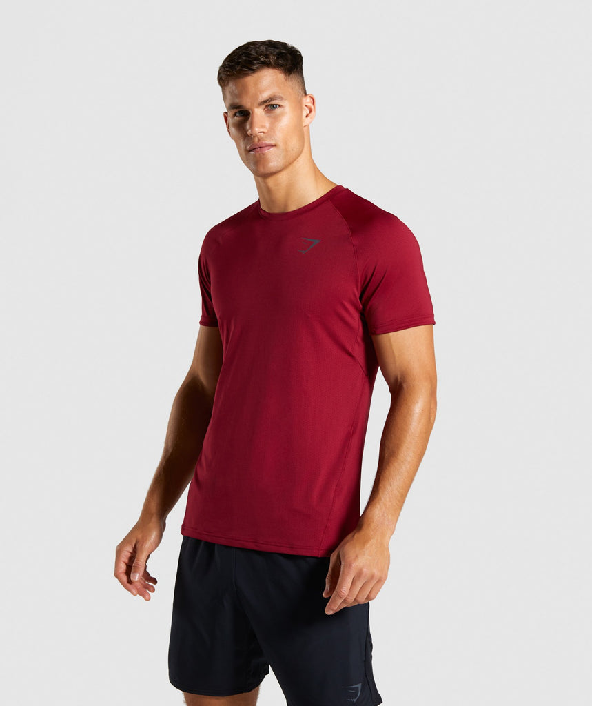 Gymshark Contemporary T-Shirt - Claret 1
