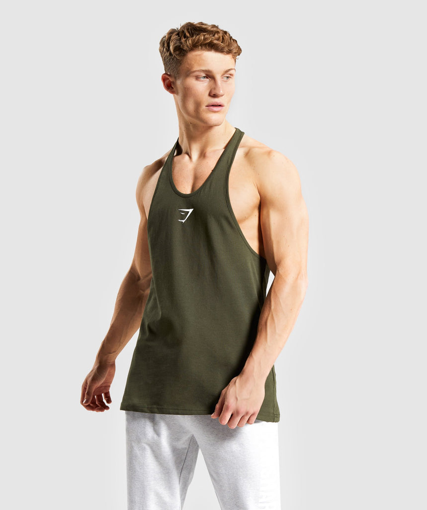 Gymshark Critical Stringer - Dark Green 1