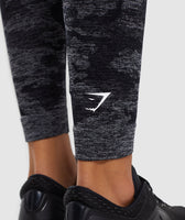 Gymshark Camo Seamless Leggings - Black 12