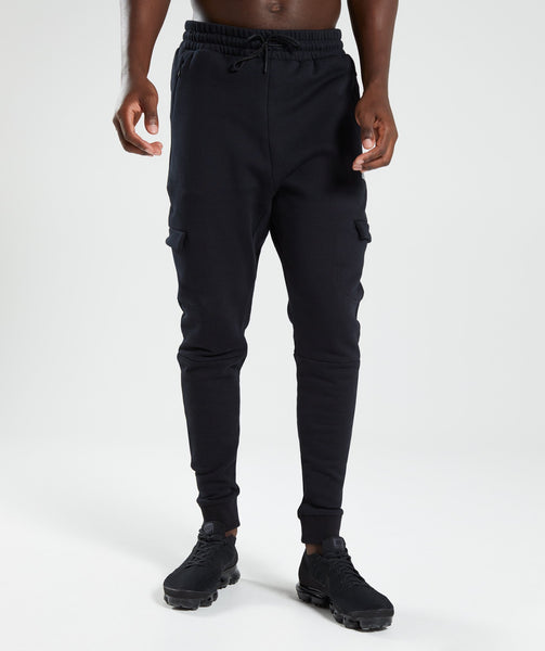 Gymshark Cargo Bottoms - Black 4