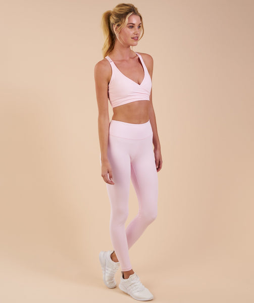 9635469262036 Gymshark Dreamy Leggings - Chalk Pink | Gymshark