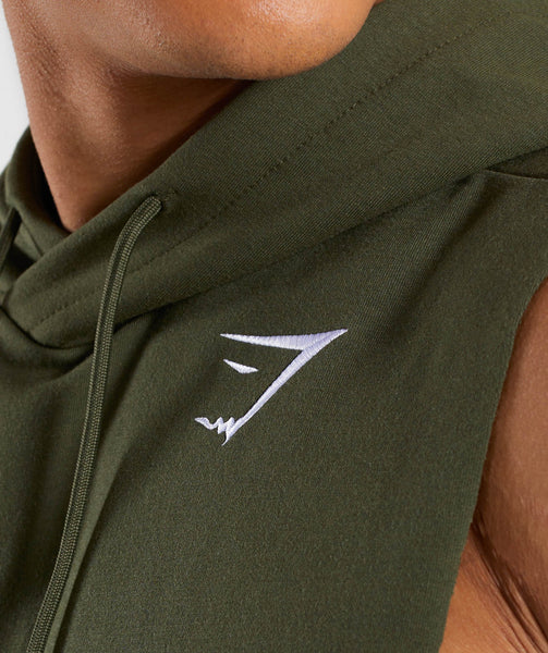Gymshark Critical Drop Armhole Hoodie - Green 4