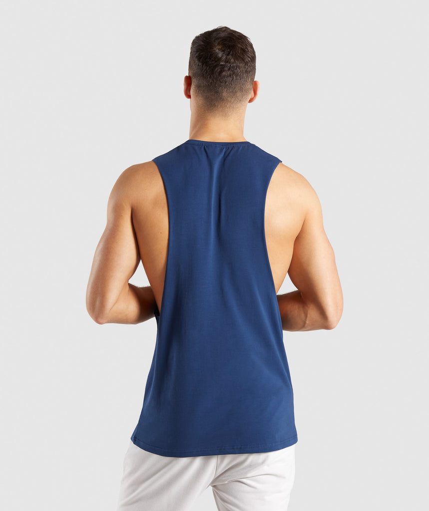 Gymshark Critical Drop Armhole Tank - Blue 2