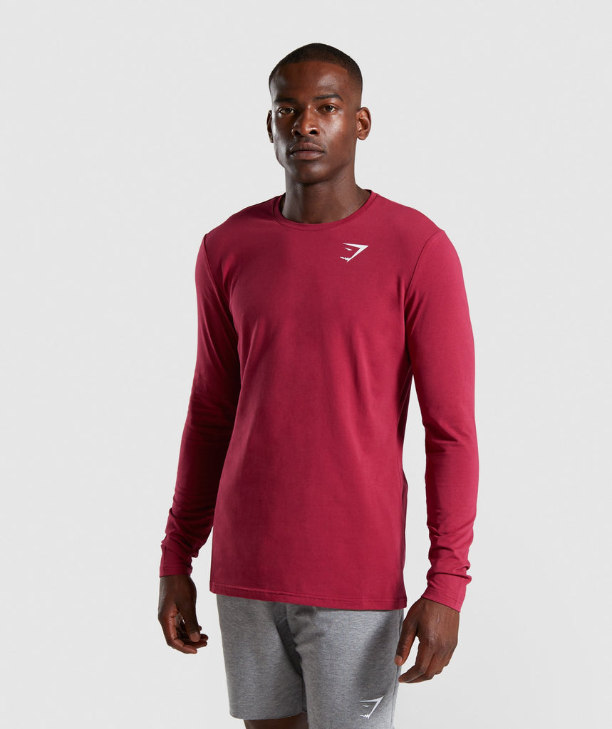 Gymshark Critical Long Sleeve T-Shirt - Claret 1