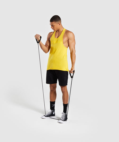 Gymshark Crucial Stringer - Yellow 3