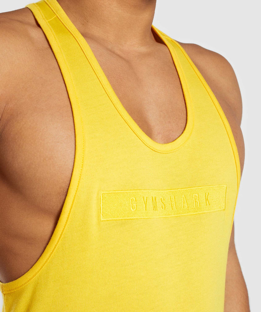 Gymshark Crucial Stringer - Yellow 5