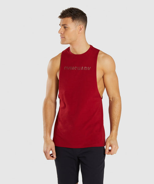 Gymshark Divide Tank - Full Red 4
