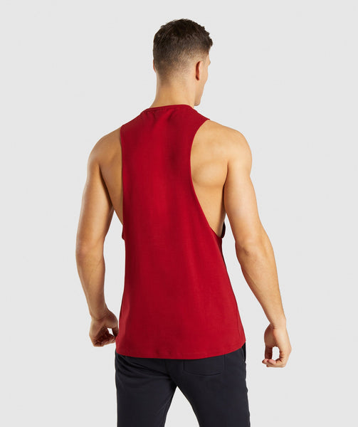 Gymshark Divide Tank - Full Red 1