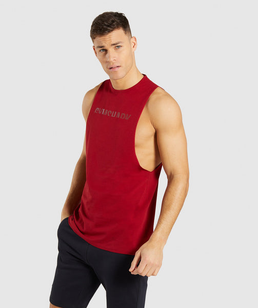 Gymshark Divide Tank - Full Red 2