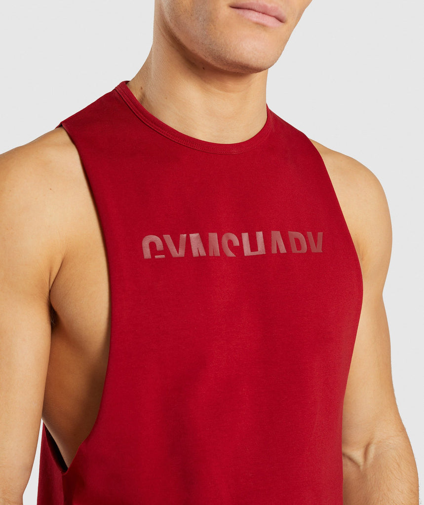 Gymshark Divide Tank - Full Red 5