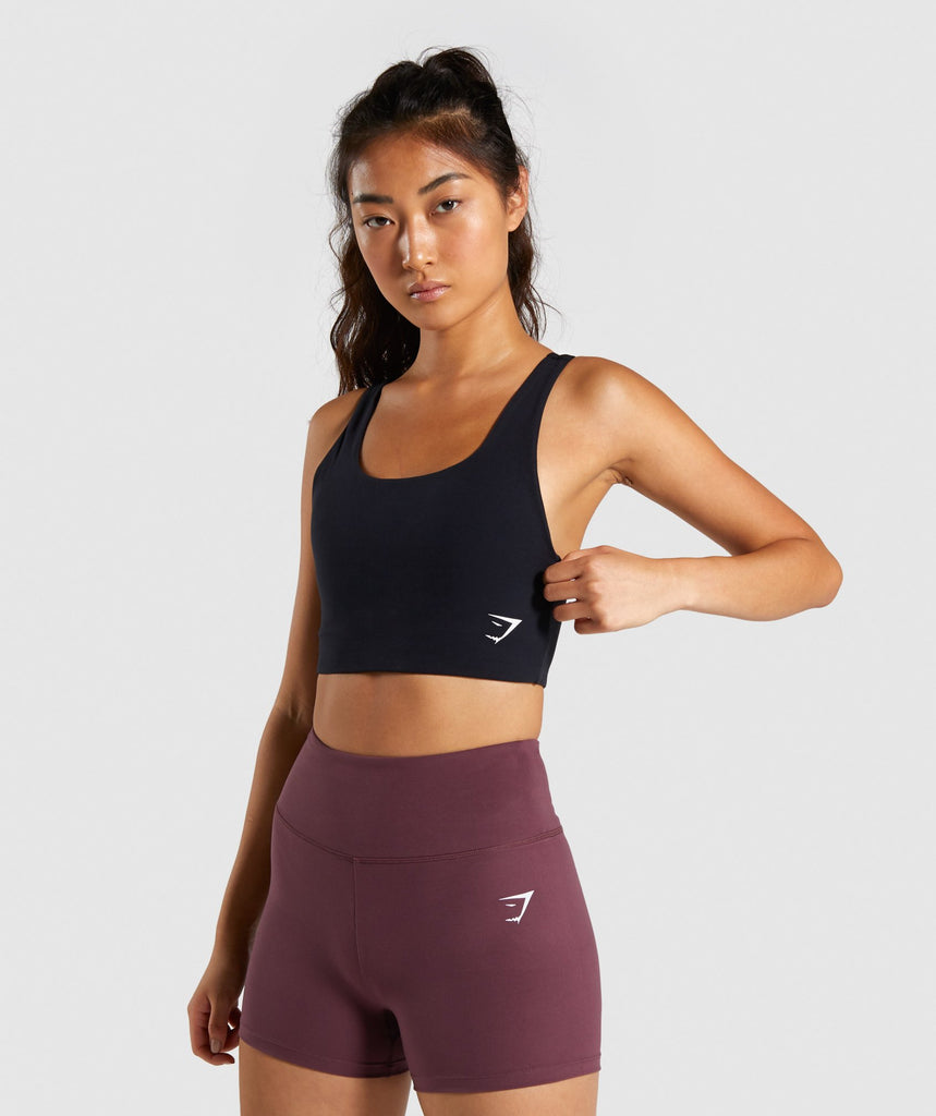 Gymshark Dreamy Sports Bra - Black/White 1