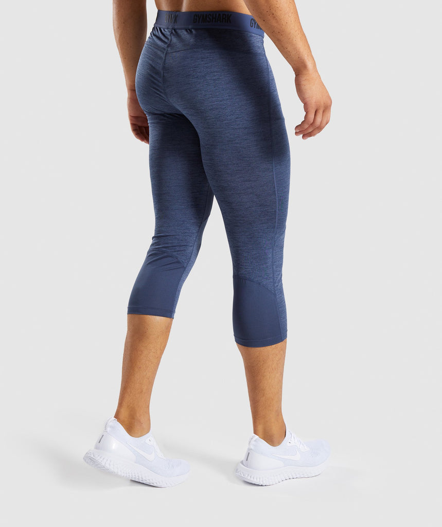 Gymshark Element+ Baselayer 3/4 Leggings - Sapphire Blue Marl 2