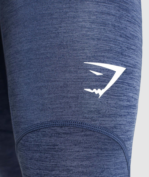 Gymshark Element+ Baselayer 3/4 Leggings - Sapphire Blue Marl 4