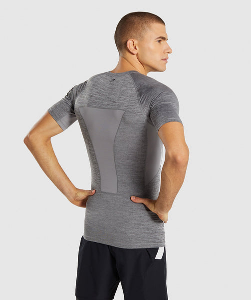 Gymshark Element+ Baselayer T-Shirt - Smokey Grey Marl 1