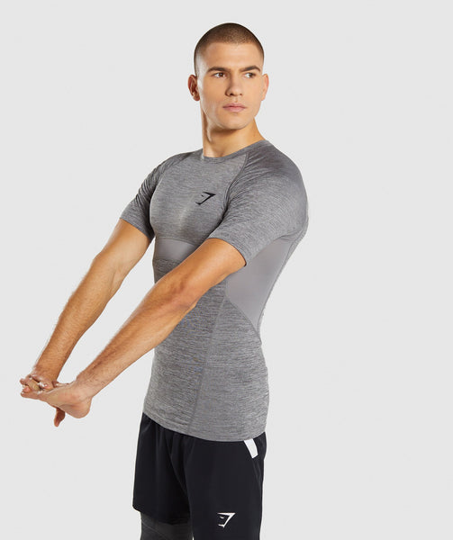 Gymshark Element+ Baselayer T-Shirt - Smokey Grey Marl 2