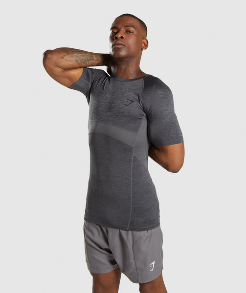 Gymshark Element+ Baselayer T-Shirt - Black Marl 2