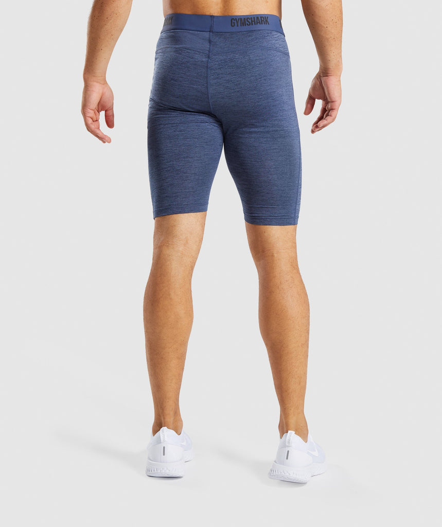 Gymshark Element+ Baselayer Shorts - Sapphire Blue Marl 2