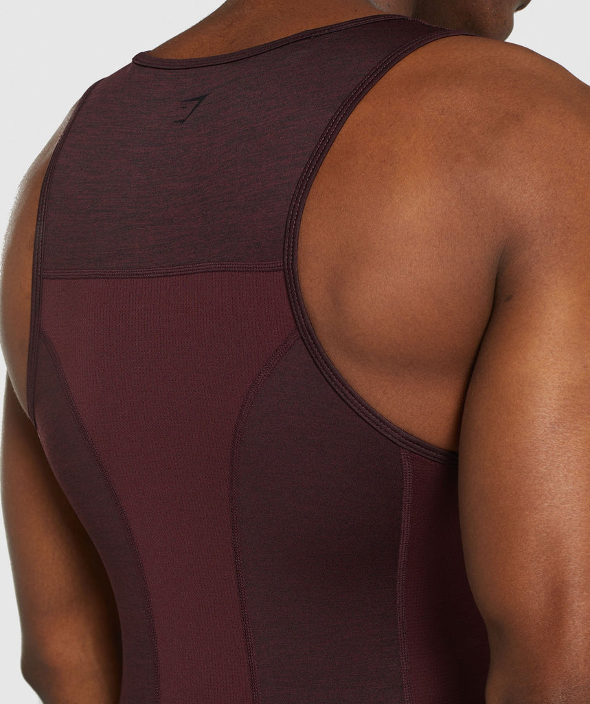 Gymshark Element+ Baselayer Tank - Ox Red Marl 6